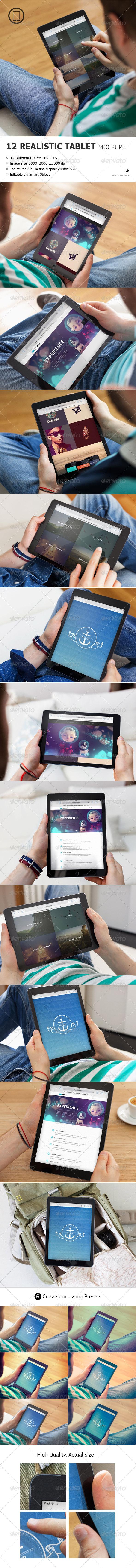 Realistic Tablet Mock-Up - Mobile Displays