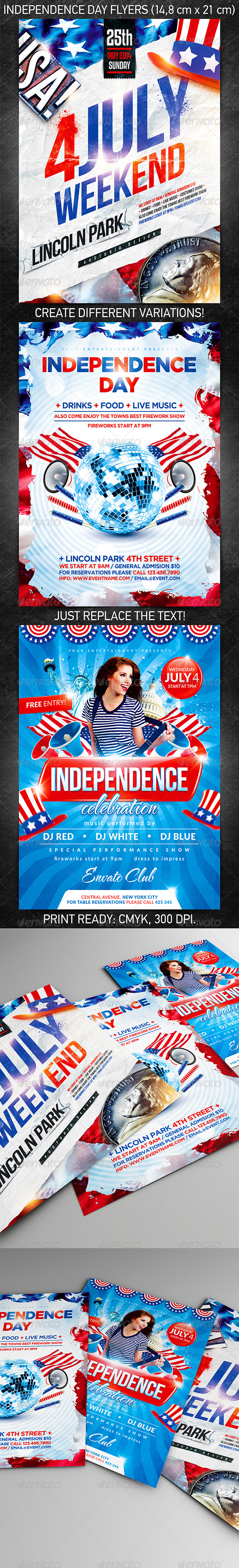 Independence Day Flyer Bundle - Events Flyers