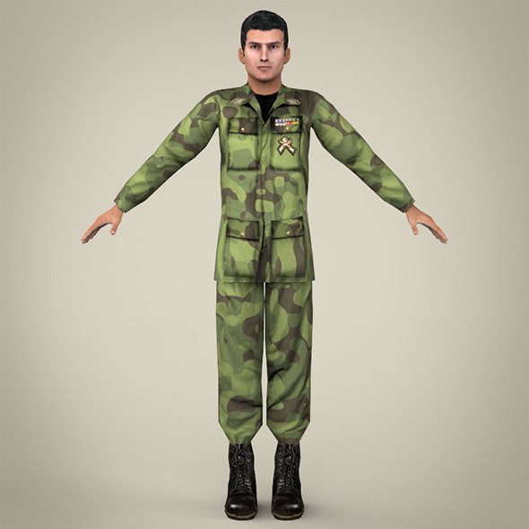Realistic Soldier - 3DOcean Item for Sale