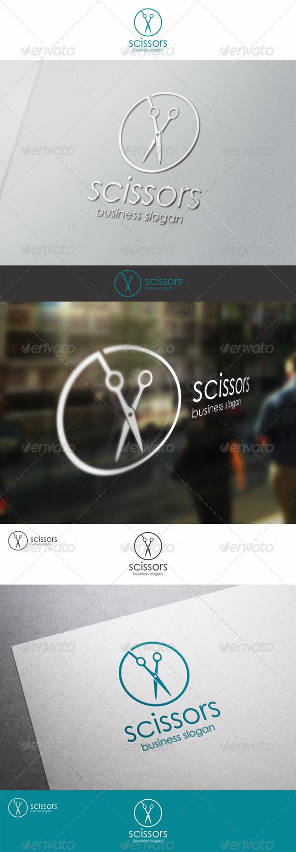 Scissors - Barber Shop Logo Template - Objects Logo Templates
