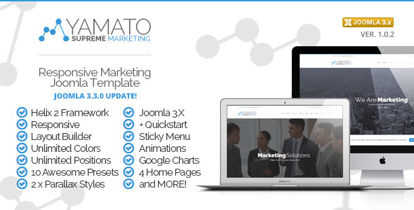 Yamato - Premium Responsive Marketing Joomla Template - Marketing Corporate
