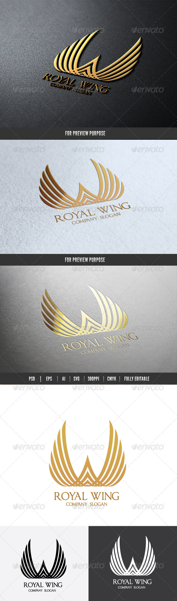 Royal Wing II - Crests Logo Templates