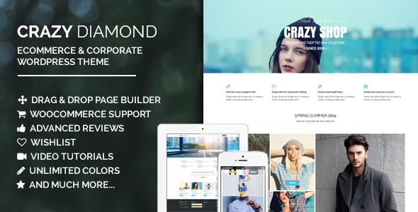 Crazy Diamond – Ecommerce & Corporate Theme