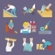 Roofer Icons Flat