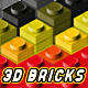 3D Toy Bricks Actions - GraphicRiver Item for Sale