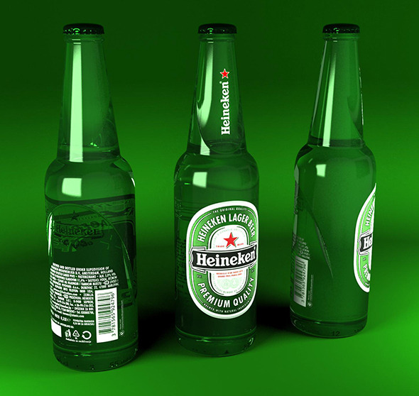 Heineken bottles 400ml - 3DOcean Item for Sale