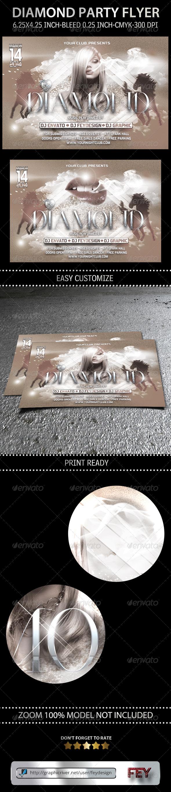 Diamond Party Flyer - Flyers Print Templates