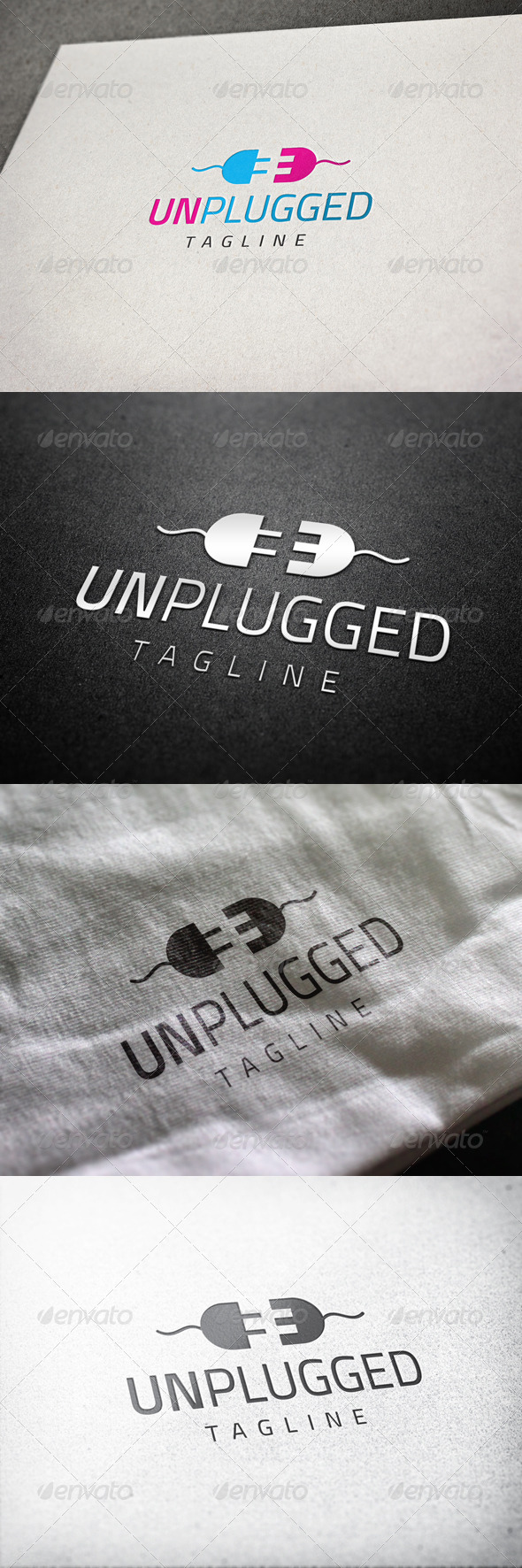 Unplugged Logo - Abstract Logo Templates