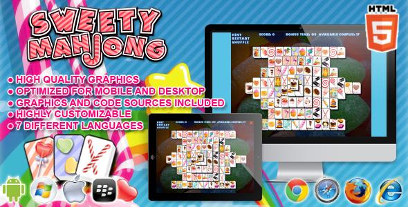 Sweety Mahjong - HTML5 Game - CodeCanyon Item for Sale