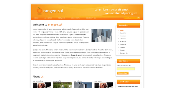 Orangeo.sol - Corporate Site Templates