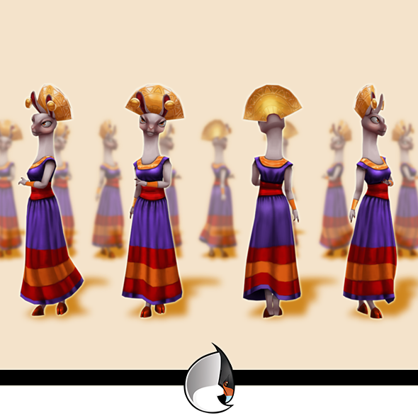 Lhama Low-Poly Character - 3DOcean Item for Sale