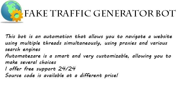 Fake Traffic Generator Bot - CodeCanyon Item for Sale