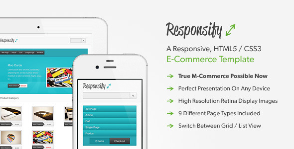 Responsify – A Responsive E-Commerce Template