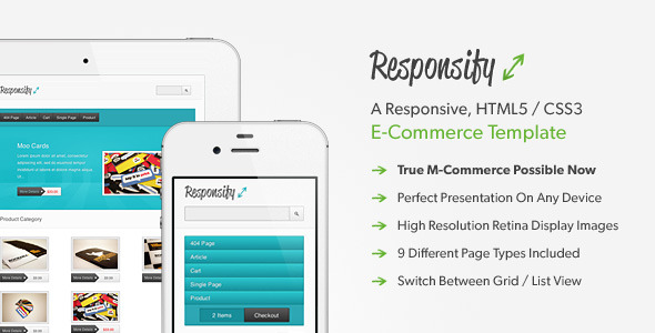 Free Download Responsify - A Responsive E-Commerce Template Nulled Latest Version