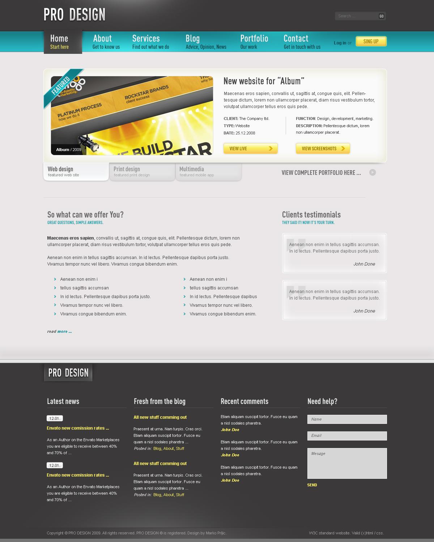 Pro Design - Business Portfolio Blog Template by segen | ThemeForest
