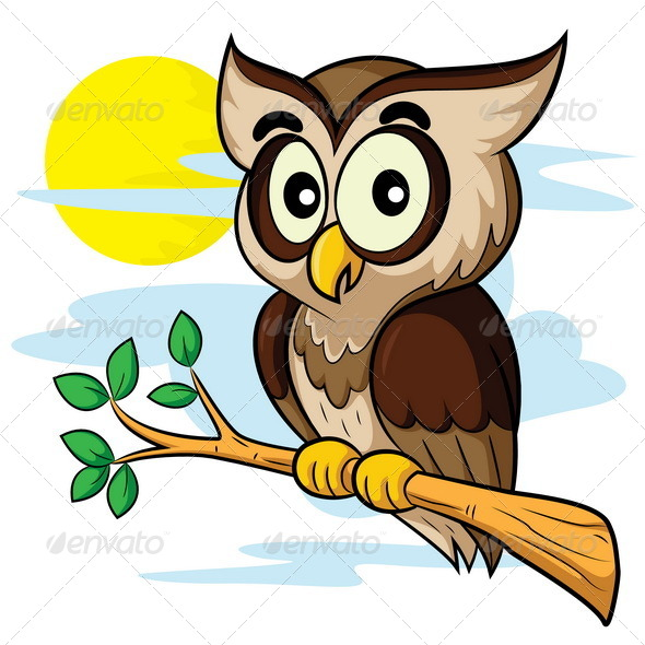Owl Cartoon by rubynurbaidi | GraphicRiver