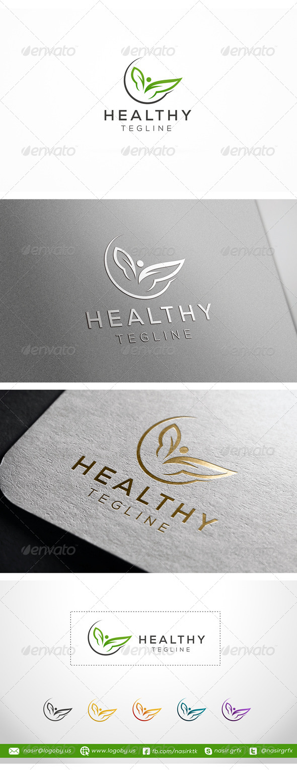 Healthy Leaf - Nature Logo Templates