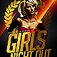 Girls Night Out Flyer Template PSD - GraphicRiver Item for Sale