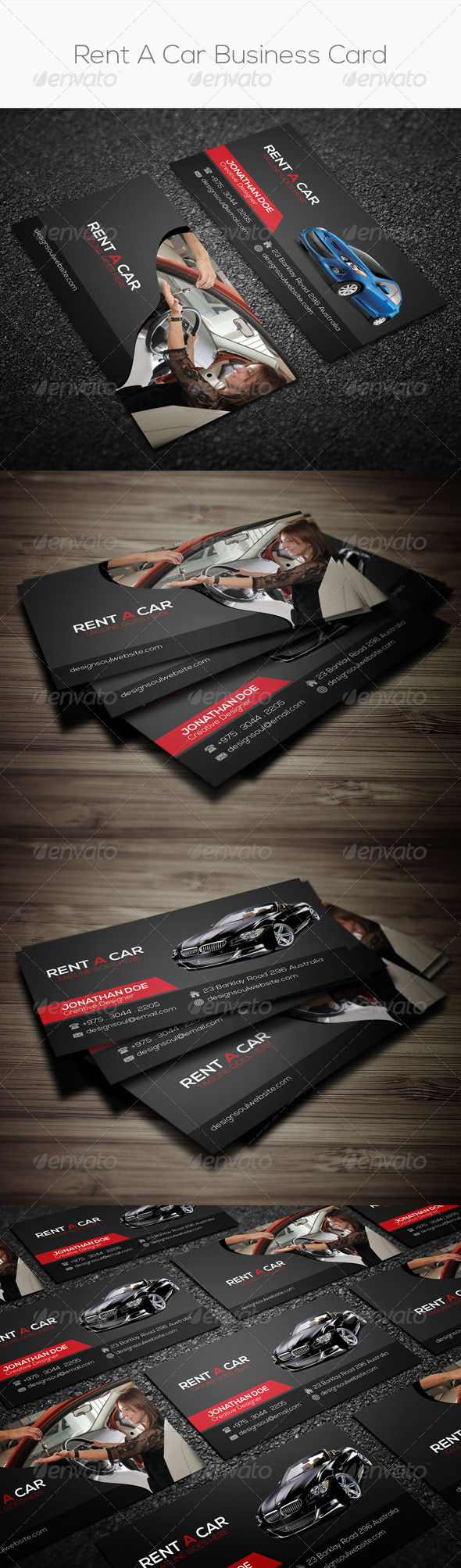 Rent a car business card by designsoul14 graphicriver rent a car business card industry specific business cards magicingreecefo Images