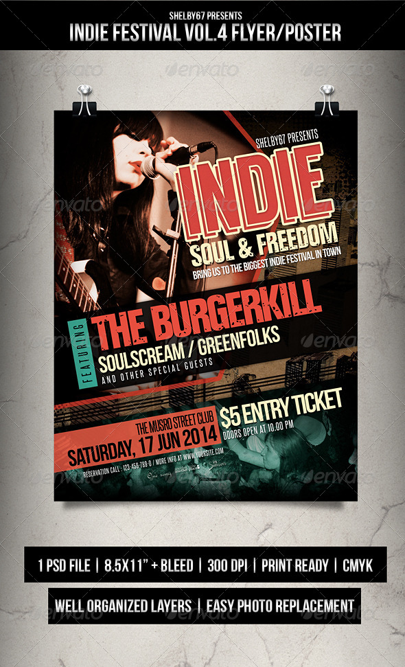 Indie Festival Flyer / Poster Vol.4 - Events Flyers
