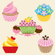 5 Cupcake Designs - GraphicRiver Item for Sale
