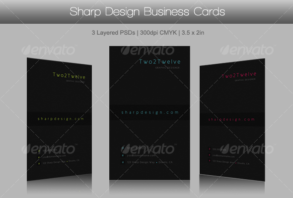 Sharp Design Business Cards  - Corporate Business Cards