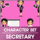 Secretary Character Set - GraphicRiver Item for Sale