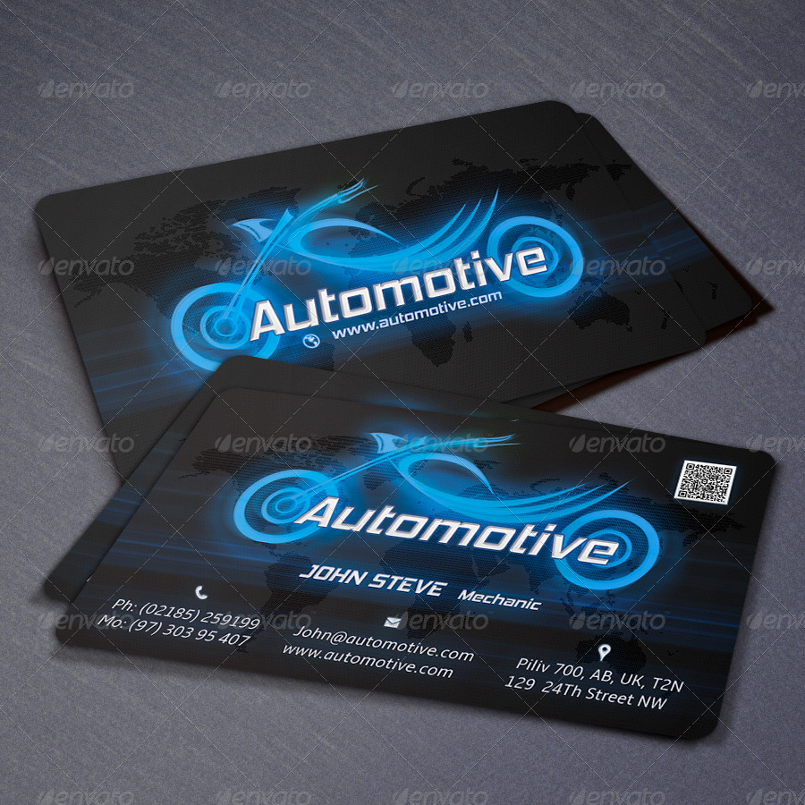 Automotive Motorcycle Business Card by oksrider | GraphicRiver