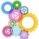 Modeling Bright Gear Wheels Background - GraphicRiver Item for Sale