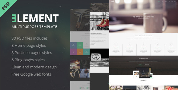 ELEMENT – Multipurpose PSD Template