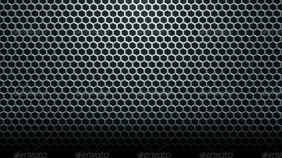Hex Metal Web Background