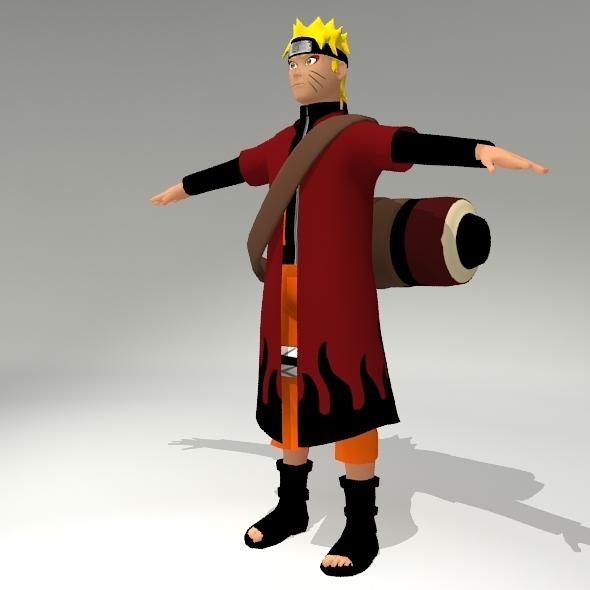Naruto Sage Mode By Backdoorcreative 3docean