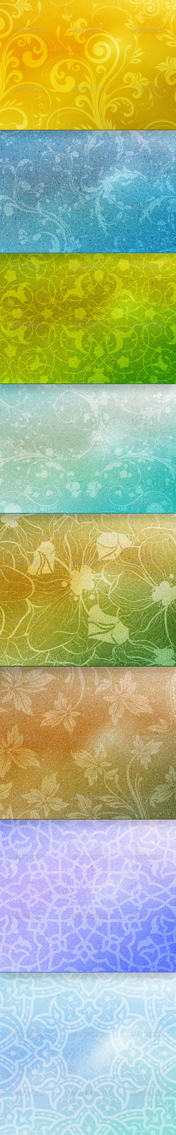 Textured Ornaments - Backgrounds Graphics