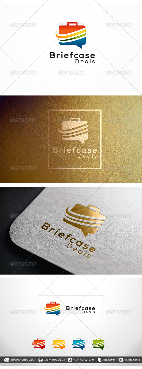 Briefcase Deals - Objects Logo Templates