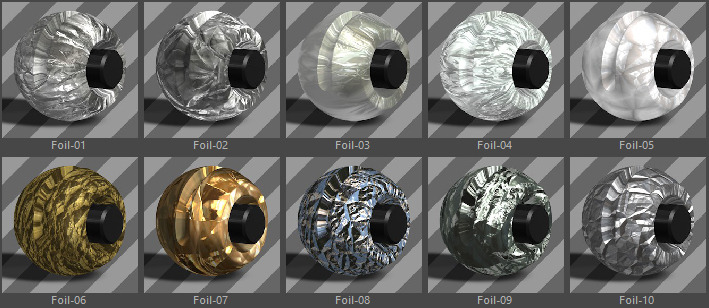 Metals Material Pack-11-Foil for Cinema 4D