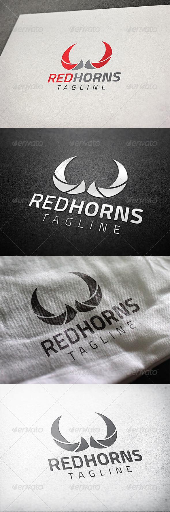 Redhorns Logo - Abstract Logo Templates