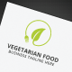 Vegetarian Food Logo - GraphicRiver Item for Sale