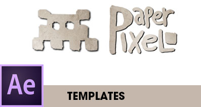 Paper Pixel After Effects Templates