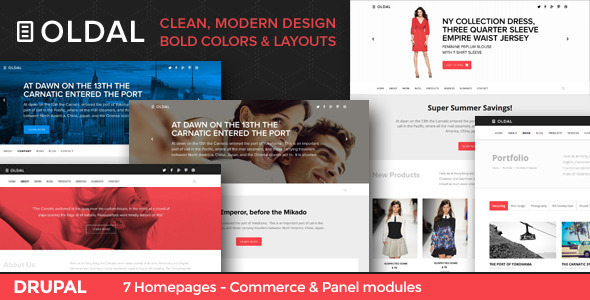 Oldal – Business & eCommerce Drupal Theme