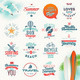 Set of Travel and Summer Vacation Type Design - GraphicRiver Item for Sale