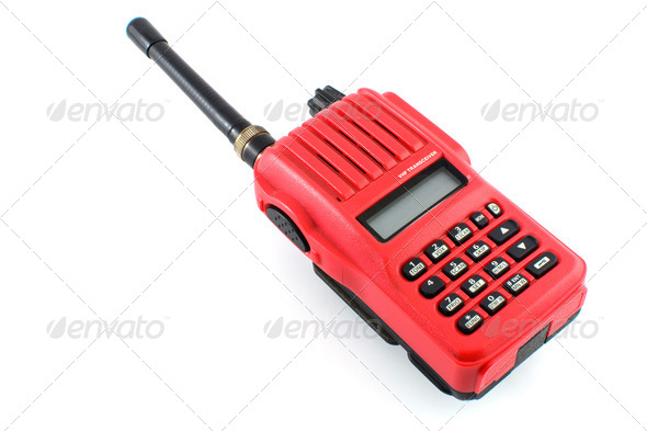VHF transceiver - Stock Photo - Images