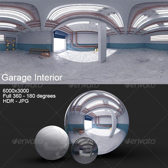 Garage Interior HDRI - 3DOcean Item for Sale