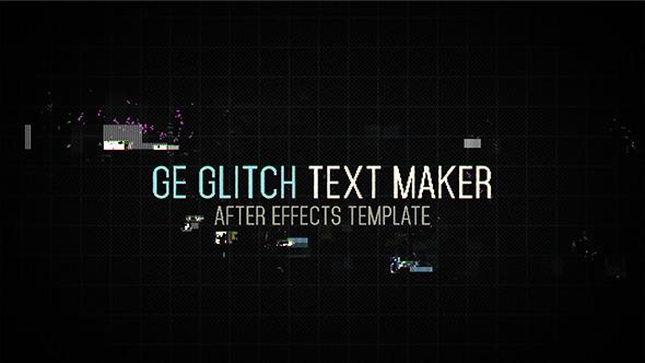 ge glitch text maker by madlistudio videohive