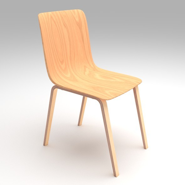 Plywood Chair - 3DOcean Item for Sale