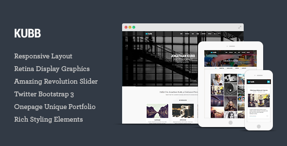 Kubb – Photography & Magazine HTML5 Template