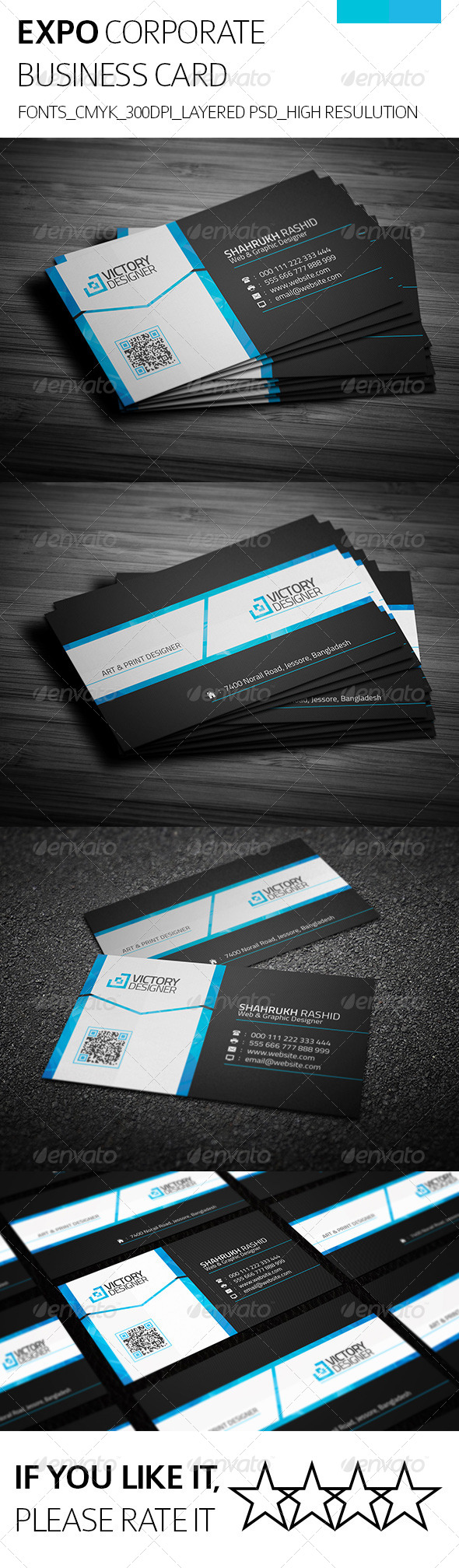 Expo & Corporate Business Card - Corporate Business Cards