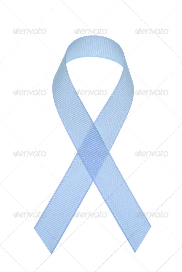 Prostate cancer awareness ribbon - Stock Photo - Images