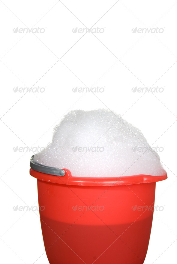 Bucket of suds - Stock Photo - Images
