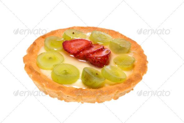 Custard Fruit Tart - Stock Photo - Images