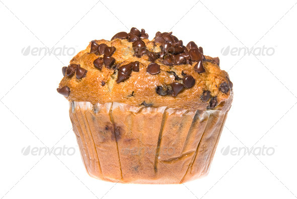 Chocolate Chip Muffin - Stock Photo - Images